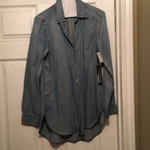 Tops - Blue jean shirt size small